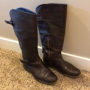 Brown Leather Frye Riding Boots